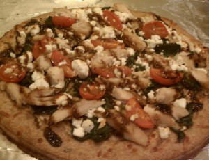Balsamic Feta Spinach Chicken Pizza