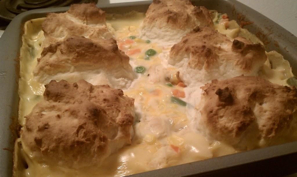 Chicken & Biscuits Casserole - Emily Bites