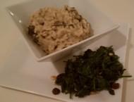 Mushroom-Risotto-2526-Spinach-w-Pine-Nuts-2526-raisins