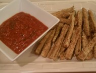 Breaded Zucchini Fries and Marinara