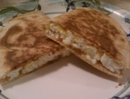 Bacon, Egg and Cheese Breakfast Quesadilla