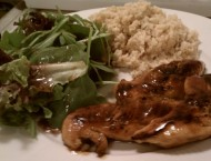 Honey-BBQ-Chicken-Tenders-2526-Cheesy-Brown-Rice