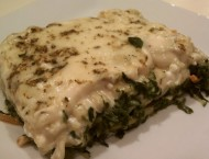 White Vegetable Lasagna