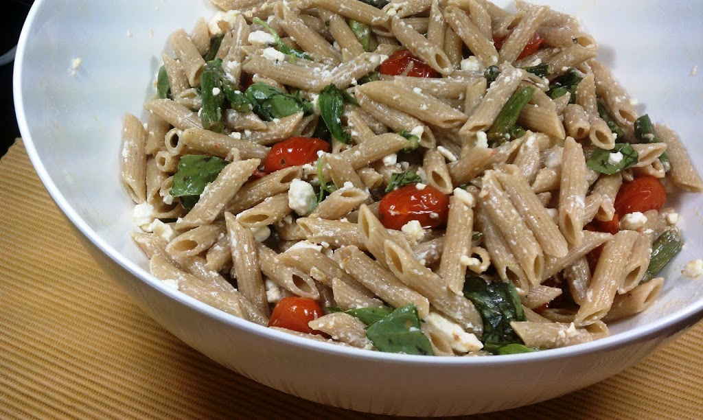 Pasta With Feta And Roasted Vegetables
