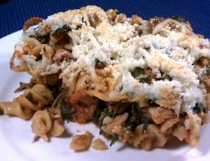 Italian Sausage Spinach Pasta Bake
