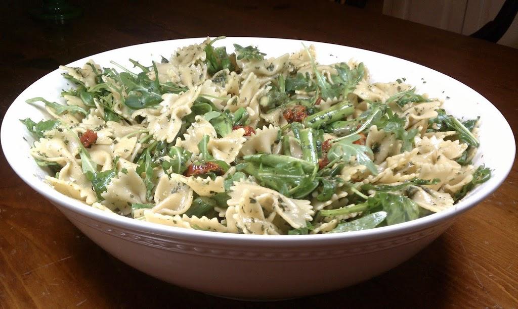 Pesto Pasta with Asparagus, Sun-Dried Tomatoes and Arugula ...