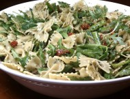 Pesto Pasta with Asparagus, Sun-Dried Tomatoes and Arugula
