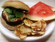 Basil Burgers with Sun-Dried Tomato Mayo