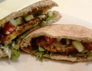 Falafel Sandwiches with Yogurt Sauce