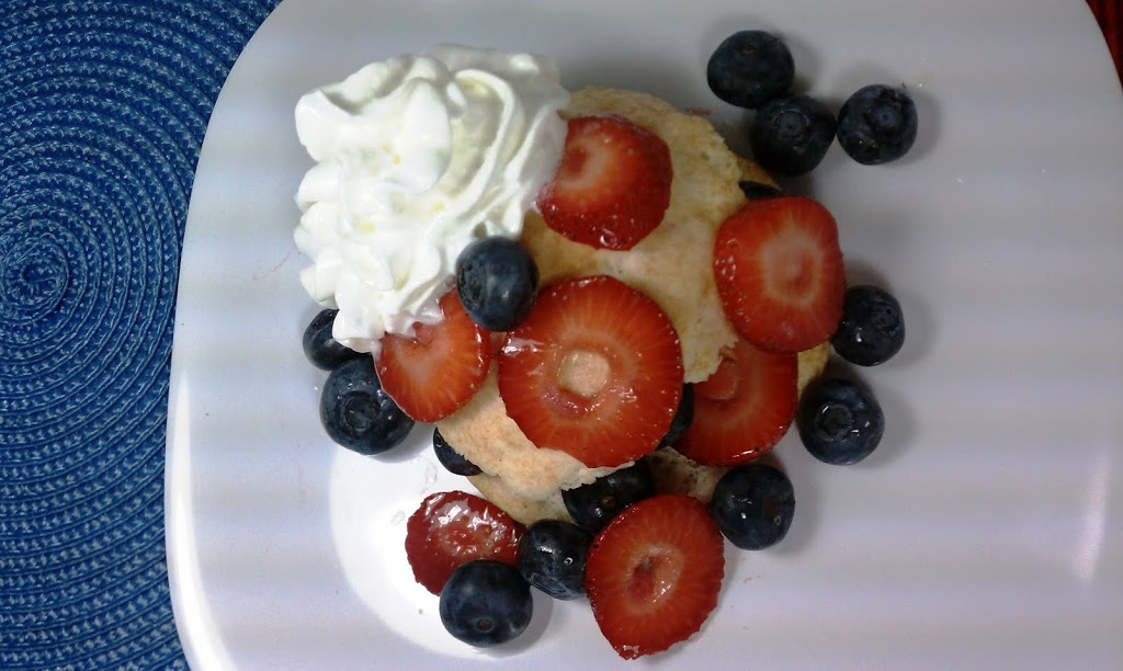 Red, White & Blueberry Shortcake - Emily Bites