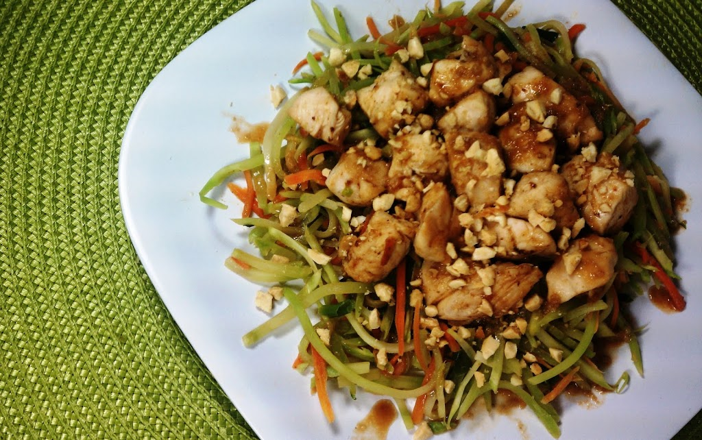 Asian chicken and vegetables with spicy peanut sauce emily bites forumfinder Gallery