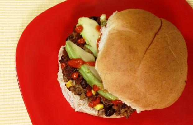 Spicy Black Bean Veggie Burgers