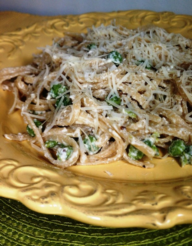 Parmesan Linguini with Peas