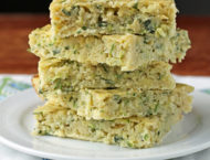 Zucchini Squares stacked