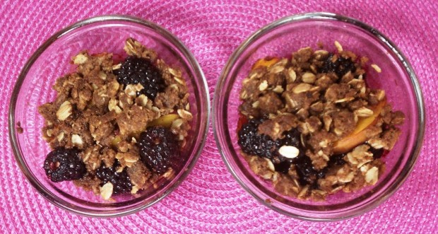Blackberry Peach Crisps
