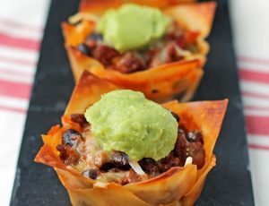 Taco Wonton Cupcakes