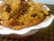 Pumpkin, Cranberry & Apple Baked Oatmeal