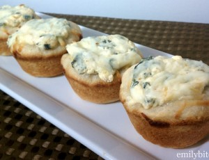 Mini Spinach Dip Bread Bowls