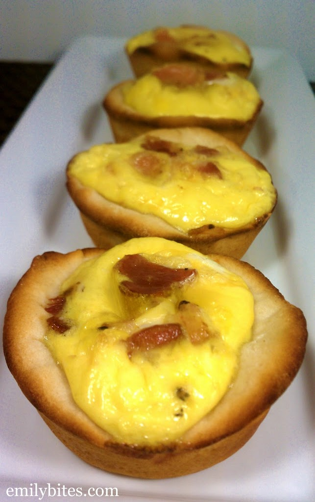 Bacon, Egg & Cheese Biscuit Cups - Emily Bites