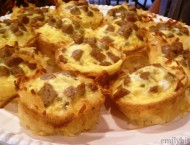 Sausage, Egg and Cheese Hash Brown Cups