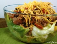Slow Cooker Taco Chili Salad