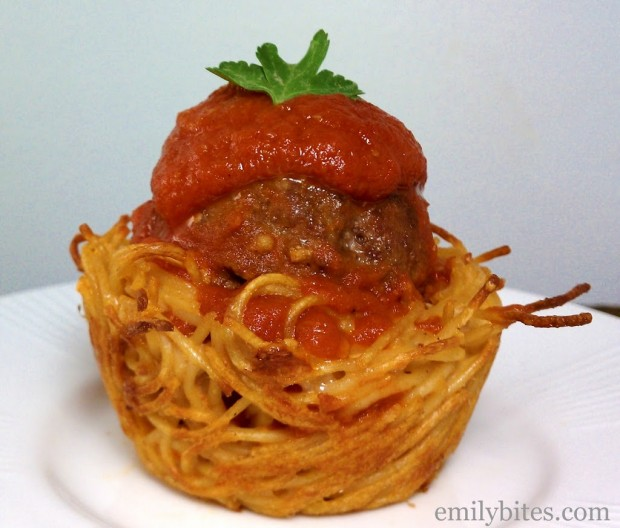 Spaghetti and Meatball Cup