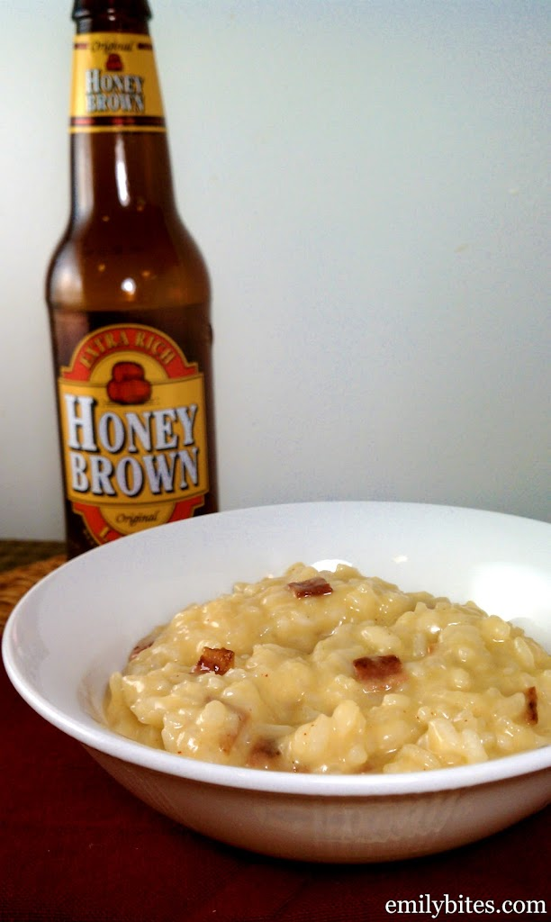 Bacon, Cheddar and Beer Risotto