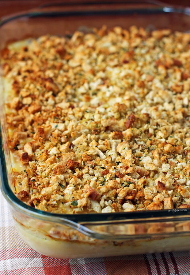 Cheesy Chicken and Stuffing Bake