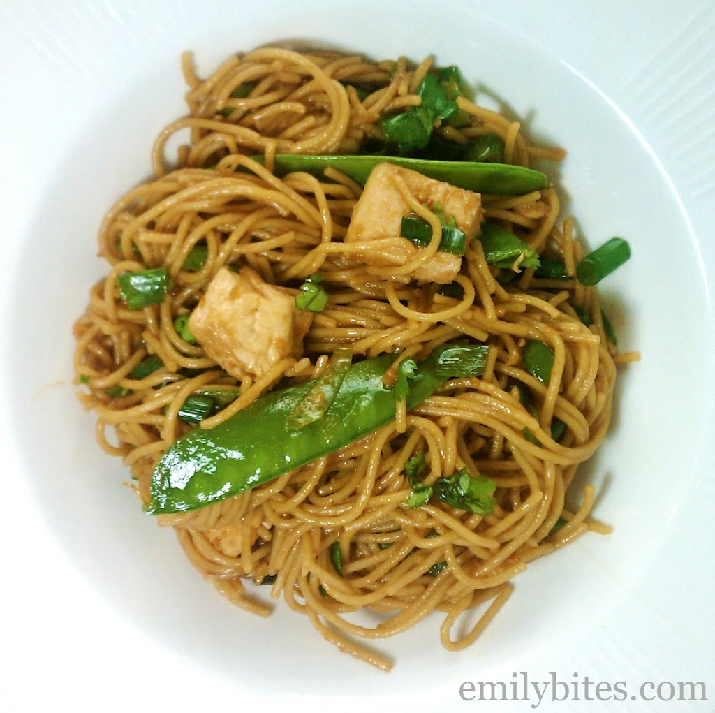Spicy Sesame Noodles with Chicken - Emily Bites