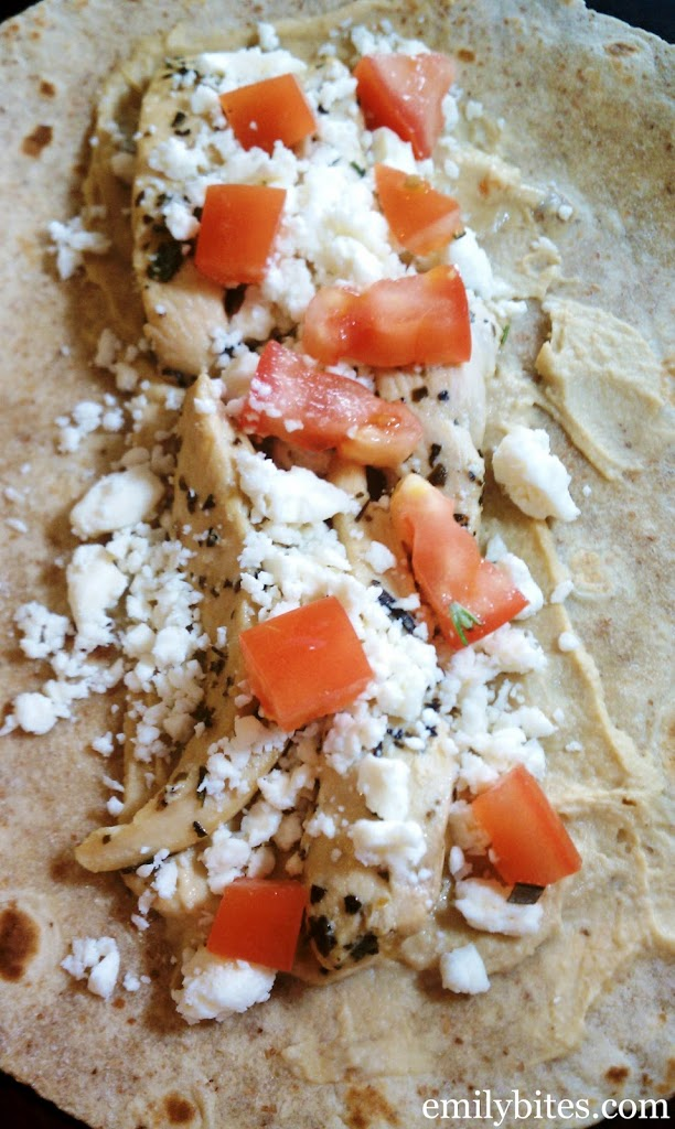 Mediterranean Chicken Wraps Filling