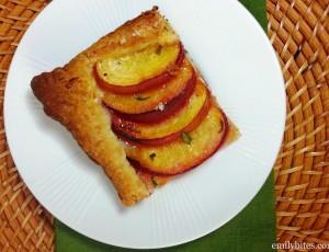 Peach Basil Tart