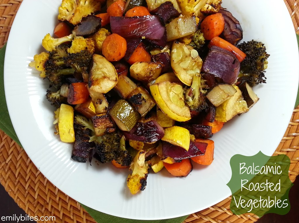 Balsamic Roasted Vegetables - Emily Bites