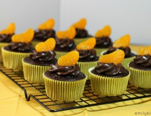 Dark Chocolate Orange Cupcakes