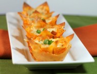 Enchilada Wonton Cupcakes
