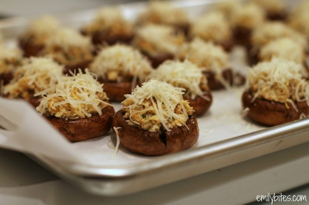 Sausage Stuffed Balsamic Mushrooms Pre-Cooked