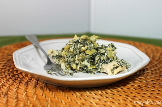 Skinny Spinach and Artichoke Chicken