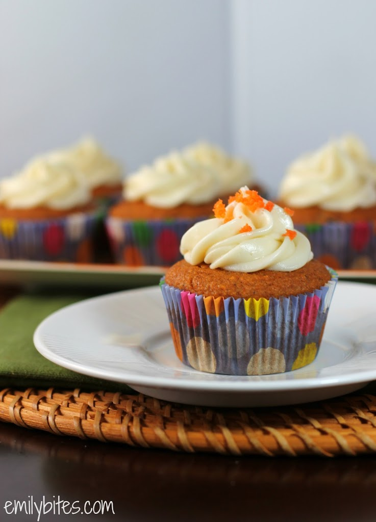 Carrot Cake Cupcakes - Emily Bites