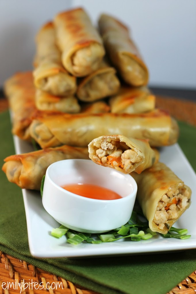 Chicken Egg Rolls Emily Bites