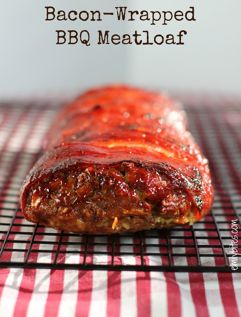 Bacon Wrapped BBQ Meatloaf - Emily Bites
