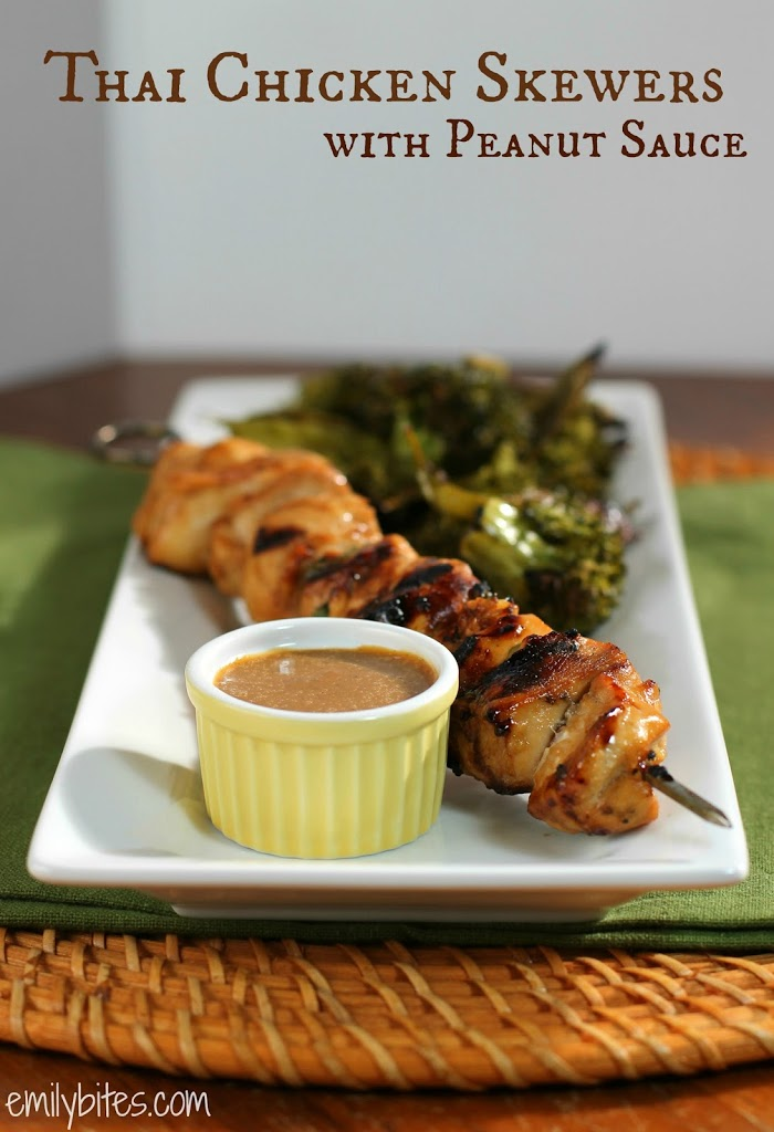 Thai Chicken Skewers With Peanut Sauce Emily Bites
