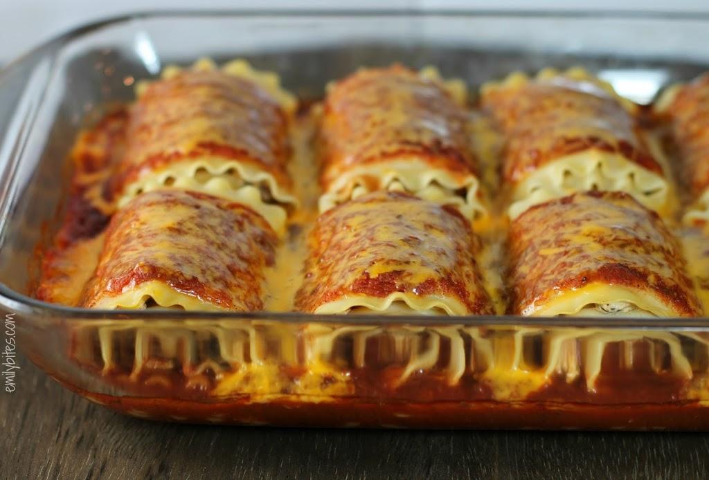 Mexican Lasagna Roll-Ups - Emily Bites