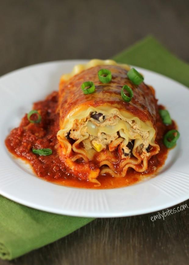 Mexican Lasagna Roll-Ups