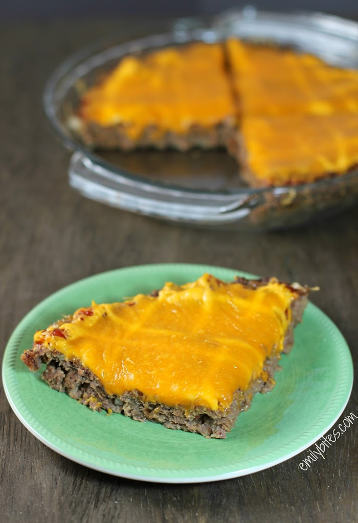 Cheeseburger Meatloaf Pie - Emily Bites