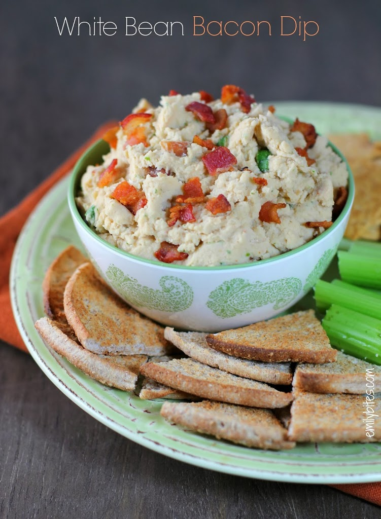 White Bean & Bacon Dip (and exciting news!) - Emily Bites