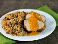 Roasted Pork Tenderloin with Ginger Peach Sauce