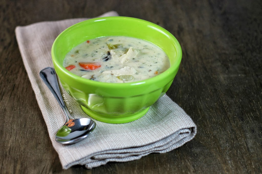 Creamy Chicken & Wild Rice Soup - Emily Bites