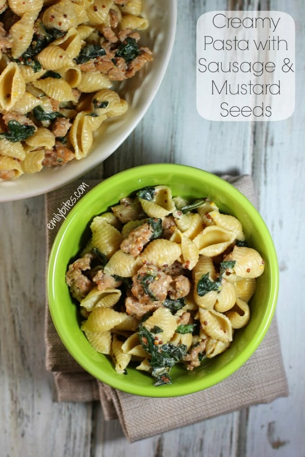 Creamy Pasta with Sausage and Mustard Seeds