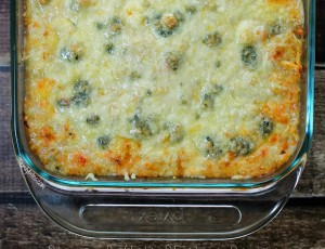 Buffalo Chicken Quinoa Bake