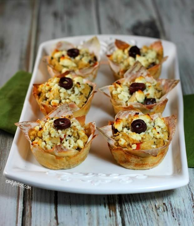 Mediterranean Wonton Cupcakes