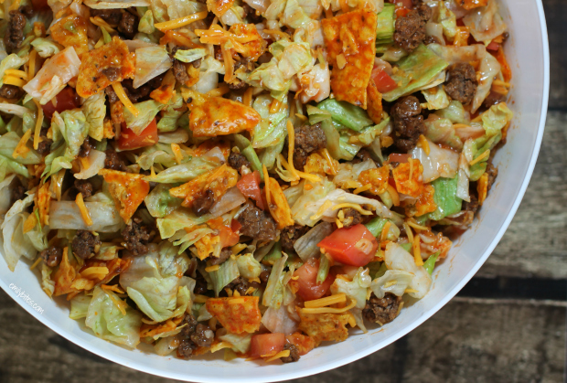 Taco Salad With Doritos for Pinterest